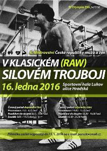4. Mistrovství ČR v klasickém (RAW) silovém trojboji mužů a žen