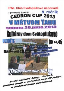 Cedron Cup 2013, 9. ročník súťaže v mŕtvom ťahu
