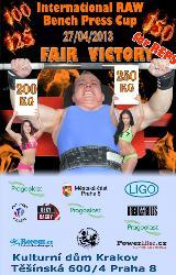 Pozvánka na Fair Victory 2013 - benč na výkon i na počet opakování, Praha