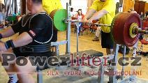 Jaroslav Šoukal, benč 280kg, český rekord M1 nad 120kg