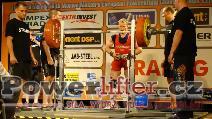 Karel Ruso, CZE, dřep 263kg, evropský rekord muži M1 do 67,5kg