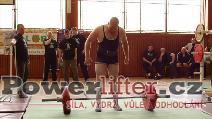Jan Fiala, odhodlaný pokus o mrtvý tah 225kg