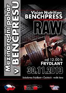 Vision Nutrition Benchpress - mezinárodní pohár vbenčpresu RAW