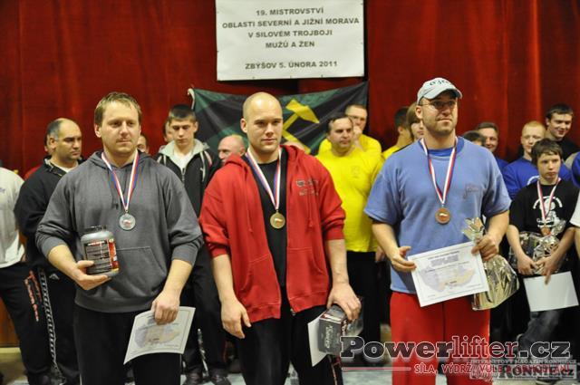Vyhlášení výsledků - muži do 93kg