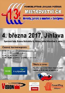 13. Otevřené Mistrovství ČR v benčpresu dorostu, juniorů a masters