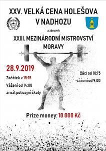 25. ročník VC Holešova ve vzpírání a 23. Mezinárodní mistrovství Moravy v nadhozu