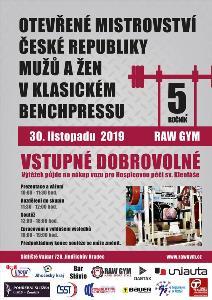 5. Otevřené Mistrovství ČR v klasickém (RAW) benčpresu mužů a žen