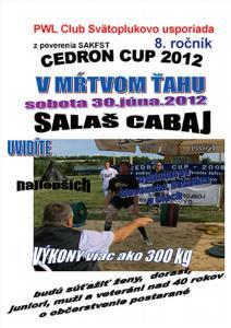 Cedron Cup 2012, 8. ročník súťaže v mŕtvom ťahu