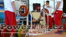 David Lupač, benč 230kg, český juniorský rekord do 110kg