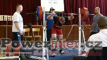 Tomáš Pavliš, dřep 222,5kg