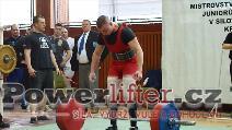 Tomáš Pavliš, mrtvý tah 265kg, junior do 83kg