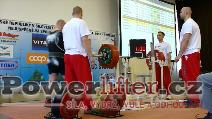 Milan Špingl, benč 300,5kg, český rekord nad 125kg