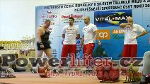 Tomáš Šárik, mrtvý tah 322,5kg, muži do 125kg