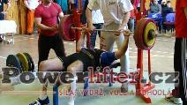 František Esser, benč 147,5kg, český rekord v M3 do 100kg