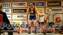 Antero Juntunen, FIN, vydřený mrtvý tah 252,5kg, muži M2 do 82,5kg