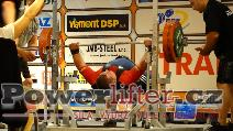 Sergey Burmistrov, RUS, benč 245kg s lehkostí, muži M1 do 125kg