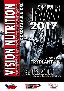 Vision Nutrition RAW 2017 - soutěž v silovém trojboji dorostu a juniorů