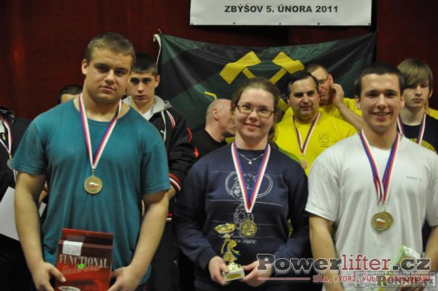 Vyhlášení výsledků - Sobotka, Koutňáková, Tkadlec