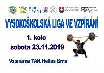 Vysokoškolská liga vo vzpieraní družstiev 2019/2020 - 1. kolo